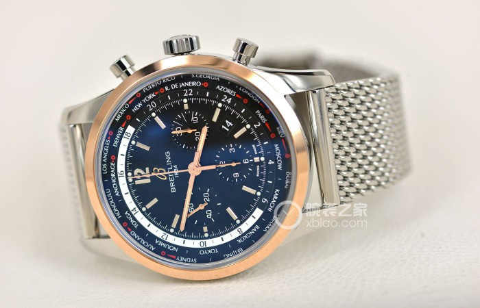 Breitling Transocean Chronograph World Time Pilot