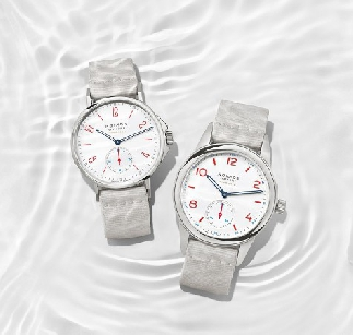 "夏日""凉""伴:NOMOS推出全新Ahoi neomatik siren white 与Club neomatik siren white腕表"