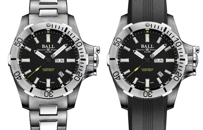 深海中散发刺眼亮光:Ball Watch Engineer Hydrocarbon Submarine Warfare