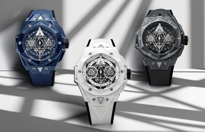 HUBLOT宇舶表Big Bang Sang Bleu II刺青午夜少女宅男免费大片 再添三款陶瓷新作