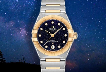 きらきら光る天の川、オメガの星座のシリーズのレディースの腕時計